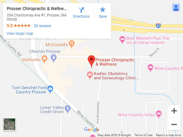 Map of Prosser Chiropractic & Wellness location
